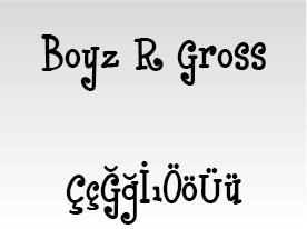 Boyz R Gross