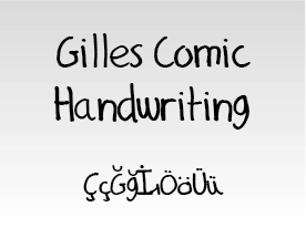 Gilles Comic Handwriting